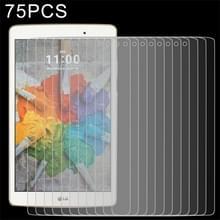 75 stuks 0.3mm 9 H volledig scherm getemperd glas Film voor LG G Pad X 8.0