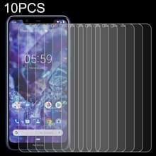10 stuks 0.26 mm 9H 2.5 D gehard glas film voor Nokia 5 1 plus (Nokia X5)