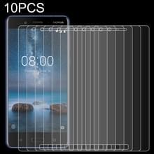 10 stuks 0.26 mm 9H 2.5 D gehard glas film voor Nokia 8