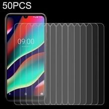 50 stuks 0.26 mm 9H 2.5 D gehard glas film voor Wiko View3 Pro  geen retail pakket