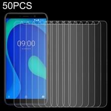 50 stuks 0.26 mm 9H 2.5 D gehard glas film voor Wiko Y80  geen retail pakket