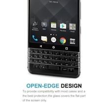Voor BlackBerry Keyone 0.3mm 9H oppervlaktehardheid 2.5D explosieveilige zeefdruk volledige scherm getemperd glas scherm Protector(Black)