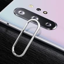 Voor Galaxy Note 10 0 15 mm 9H Border Membrane Round Edge AchtercameraLens Tempered Glass Film Guard Circle (Zilver)