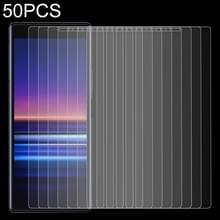 50 stuks 0.26 mm 9H 2.5 D gehard glas film voor Sony Xperia 20