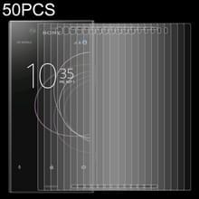 50 stuks 0.26 mm 9H 2.5 D gehard glas film voor Sony Xperia XZ1 compact