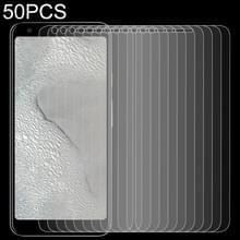 50 stuks 0.26 mm 9H 2.5 D gehard glas film voor Google pixel 3 lite