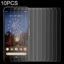 10 stuks 0.26 mm 9H 2.5 D gehard glas film voor Google pixel 3A XL
