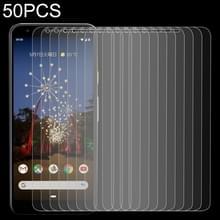 50 stuks 0.26 mm 9H 2.5 D gehard glas film voor Google pixel 3A XL