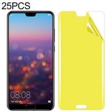 25 stuks voor Huawei P20 Soft TPU volledige dekking front Screen Protector