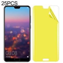 25 stuks voor Huawei P20 Lite zachte TPU volledige dekking front Screen Protector