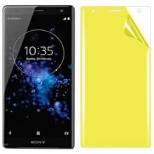 Voor Sony Xperia XZ2 Soft TPU volledige dekking front Screen Protector