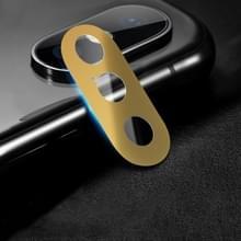 10D volledige dekking mobiele telefoon metalen Achteruitrij camera lens beschermhoes voor iPhone XS Max/XS/X (goud)
