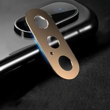 10D volledige dekking mobiele telefoon metalen achterste camera lens bescherming cover voor iPhone XS Max/XS/X (Rose goud)