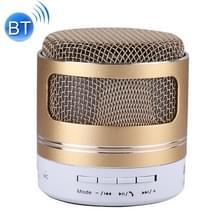 Draagbare Mini Bluetooth Speaker  ingebouwde microfoon voor iPhone  Samsung  HTC  Sony en andere Smartphones (goud)