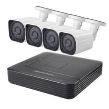 COTIER A4B6 4 kanaals 1080P 2.0 megapixel Bullet IP-Camera NVR Kit  de visie van de nacht van de steun / bewegings-detectie  IR afstand: 15m