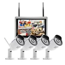 szsinocam SN-NVK-9136 4 kanaals HD 960P 1.3MP 2.4 GHz WiFi IP Bullet Camera 12 5 inch LCD scherm NVR Kit  IR afstand: 20-30 m