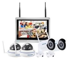 szsinocam SN-NVK-9236 4 kanaals HD 960P 1.3MP 2.4 GHz WiFi IP Dome + Bullet Camera 12 5 inch LCD scherm NVR Kit  IR afstand: 20-30 m