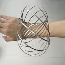 Zenuwachtig Spinner Toy Flow Ring RVS veer armband Stress Reducer voor kinderen en volwassenen  13 kringen