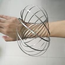 Zenuwachtig Spinner Toy Flow Ring RVS veer armband Stress Reducer voor kinderen en volwassenen  14 kringen