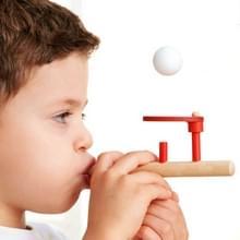 Klassieke houten spellen drijvende Blow pijp & ballen waait speelgoed voor kinderen
