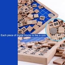 Houten Montessori onderwijs helpt Math opeenvolgende nummers 1-100 tellen Board plaat speelgoed