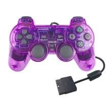 Dubbele motortrillingen transparante gamehandvat voor PS2 (paars)