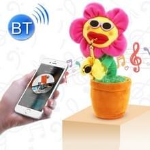 Sunflower Sax stijl Bluetooth pluche kinderen Adult Toy  ondersteuning voor USB Charging & Battery(Red)