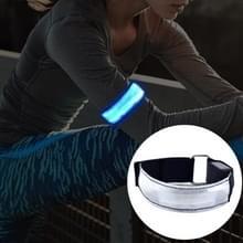 LED-flitser veiligheid reflecterend Nylon lichte oplaadbare sport pols Belt(Blue)