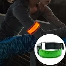 LED-flitser veiligheid reflecterend Nylon lichte oplaadbare sport pols Belt(Yellow)