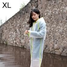 Modieuze eenvoudige mannelijke en vrouwelijke studenten één transparante matte regenjas (groene XL)