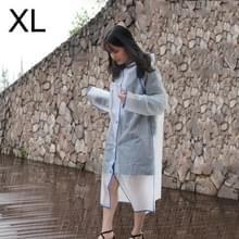Modieuze eenvoudige mannelijke en vrouwelijke studenten één transparante matte regenjas (blauwe XL)