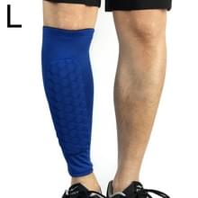Voetbal anti-botsing leggings outdoor basketbal paardrijden alpinisme enkel beschermen kalf sokken Gear Protector  maat: L