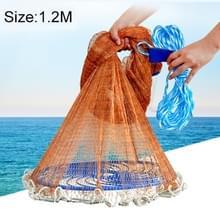 Amerikaanse gemakkelijk gooien gegoten netto visserij Mesh Fishing Tackle  1.2 m koordmateriaal voor banden dankzij