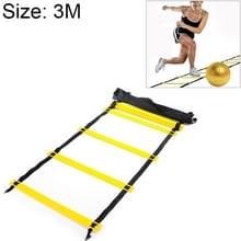 De dunne sectie 3 meter 6 knopen tempo opleiding taaie duurzame zachte Ladder voetbal Training slijtvaste Ladder Rope(Yellow)