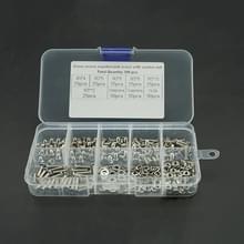 300 pc's M3 RVS 304 Kruis verzonken kop schroef moer Flat Mat voorjaar Lock ringen combinatie Set