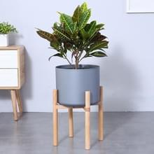 Bloempot set massief houten bloem frame + PP bloempot (grijs)