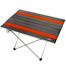 Outdoor Camping Portable licht klaptafel luchtvaart aluminium picknick barbecue tafel L grootte: 68.5 x 46 5 x 40 5 cm (zilvergrijs)