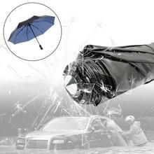 3-vouwen paraplu automatische Auto Open nauwe paraplu Ultraviolet-proof waterdicht All-weather paraplu met nood hamer venster Breaker (blauw)