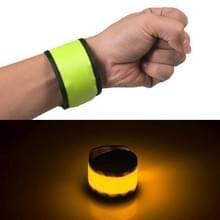 LED lichtgevende klap Pat cirkel Outdoors sport armband  grote  grootte: 35 * 4cm (groen licht)