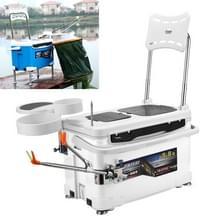 Multifunctionele visserij Box stoel met aas lade & paraplubak & hengel staan visserij Kit (wit)