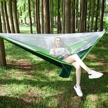 Draagbare buiten parachute hangmat met klamboes (groen)