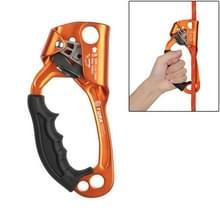 XINDA TP-8606 outdoor rotsklimmen antenne werk anti-val handheld touw grijper voor 8-12mm diameter touw links (oranje)