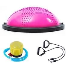Explosieveilige yoga Ball sport fitness bal balans bal met massage punt  diameter: 60cm (roze)