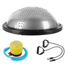 Explosieveilige yoga bal sport fitness bal balans bal met massage punt  diameter: 60cm (zilver)