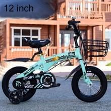ZHILTONG 5166 12 inch opvouwbare Portable kinderen pedaal Mountain Bike met voorste mand & Bell  aanbevolen hoogte: 90-105cm (groen)