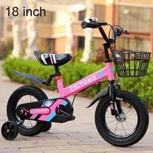 ZHITONG 8366 18 inch Fashion versie kinderen high carbon stalen frame balans auto pedaal fiets met voorste mand & Bell  aanbevolen hoogte: 120-135cm (roze)