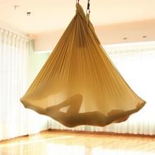 Huishoudelijke handstand elastische stretching touw antenne yoga hangmat set (goud)
