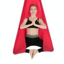 Huishoudelijke handstand elastische stretching touw antenne yoga hangmat set (rood)