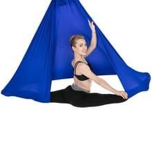 Huishoudelijke handstand elastische stretching touw antenne yoga hangmat set (Sapphire Blue)