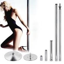 IndoorRotary vaste Dual-Purpose Pole Dance stalen buis (zilver)